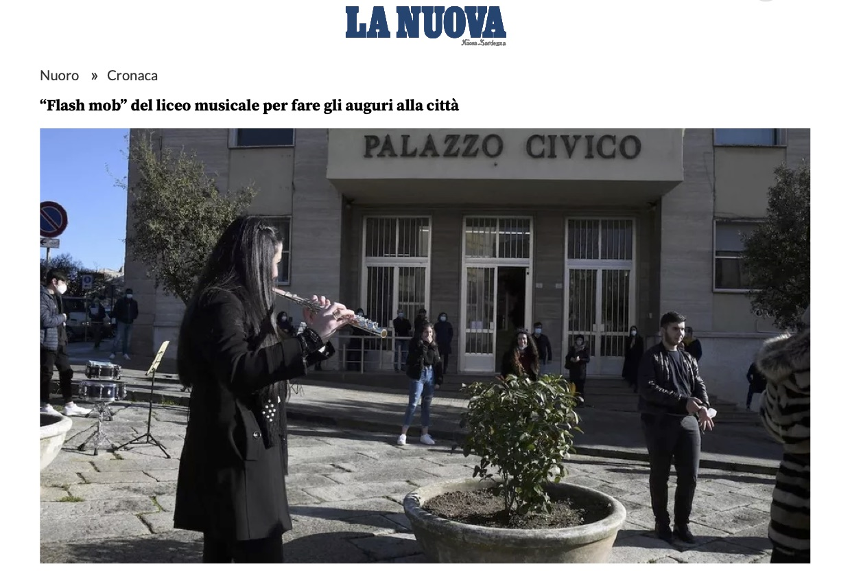 "FLASS MOB LICEO MUSICALE ""S.SATTA"" NUORO"